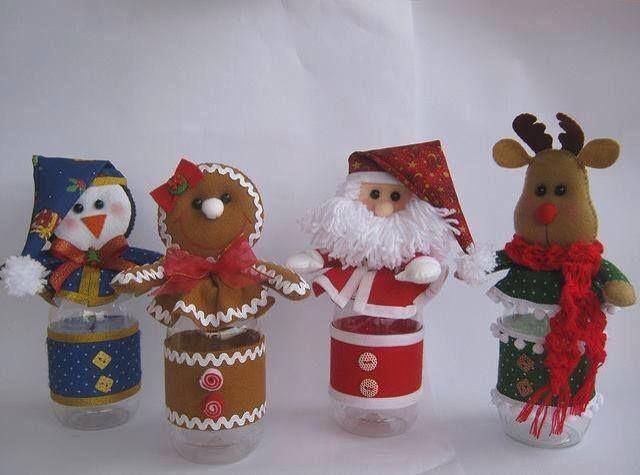 navideños con botellas