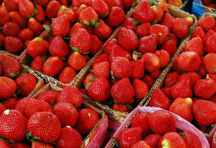 Strawberries:  Move over oranges! One cup of strawberries can fulfill your vitamin C requirements for the day. The anti-oxidants in strawberries can help repair tissue and boost immunity as well.