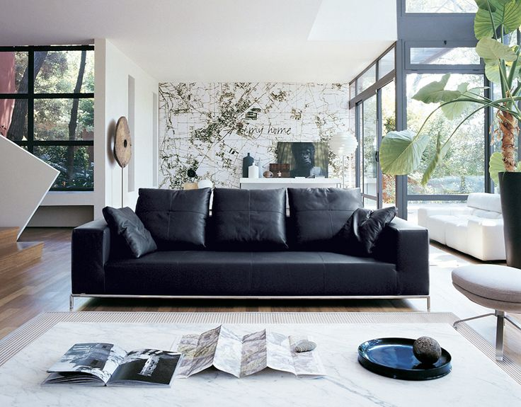 Properly Combine Living Room Ideas For Black Sofa Part 51