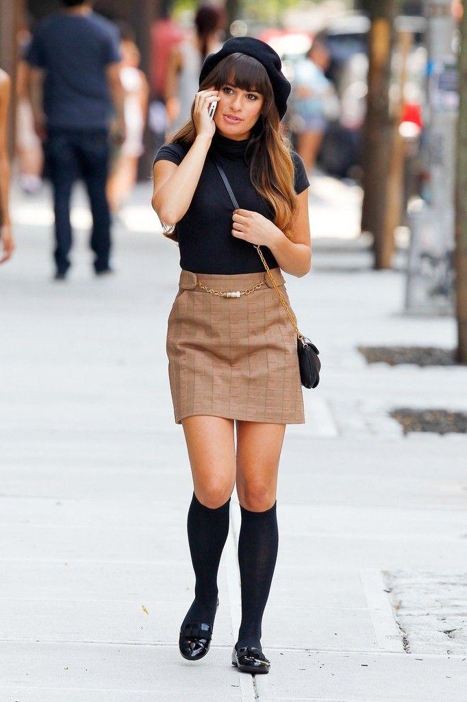 Lea Michele Films 'Glee'
