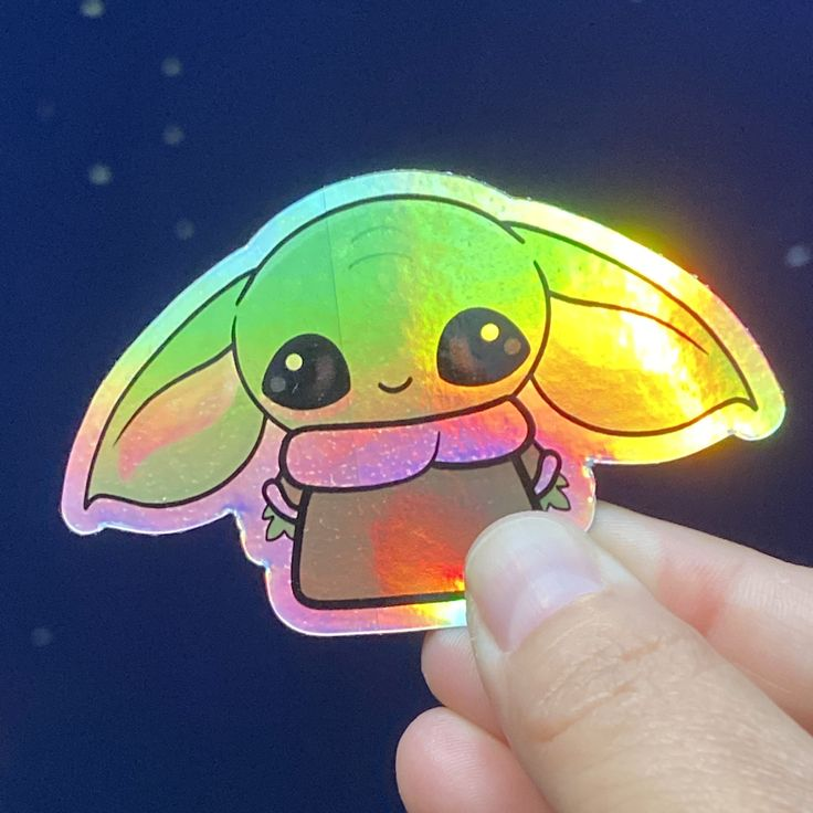 holographic anime slap stickers
