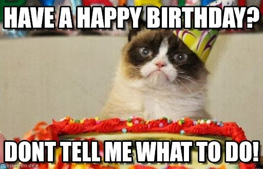 Birthday Meme Grumpy Cat Best 25+ Grumpy cat bi...
