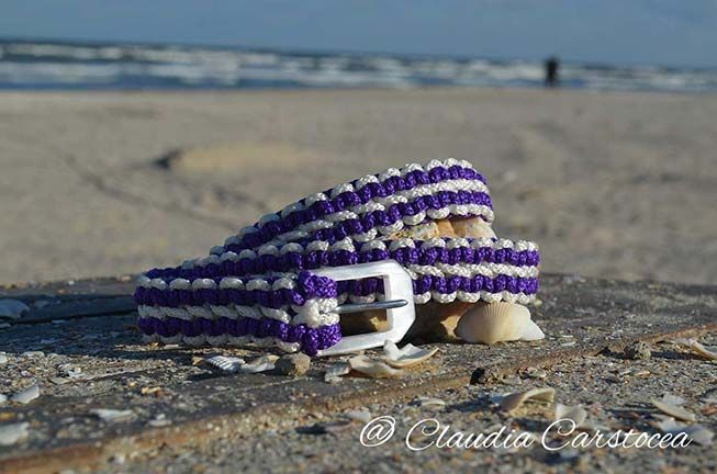 Curea de dama impletita manual din paracord cu catarama sidefata https://www.alsor.ro/curele/curea-de-dama-impletita-manual-cu-catarama-sidefata/ #nautical #handmade #belt #diy #paracord