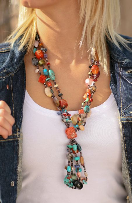 One of a Kind Semiprecious Necklace  from Smith and Western