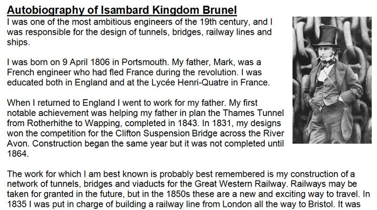 An adaptable reading comprehension about Isambard Kingdom Brunel and the SS Great Britain.