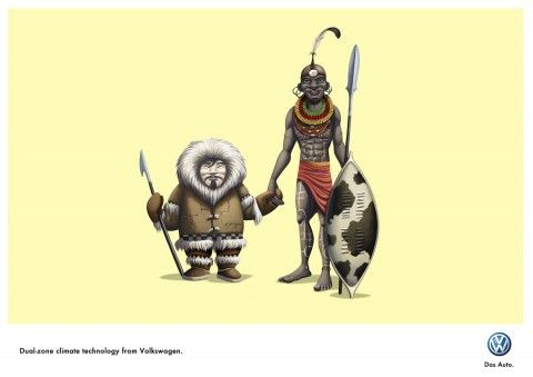 Illustration - David de Ramón - The Mushroom Company - masai and skimo