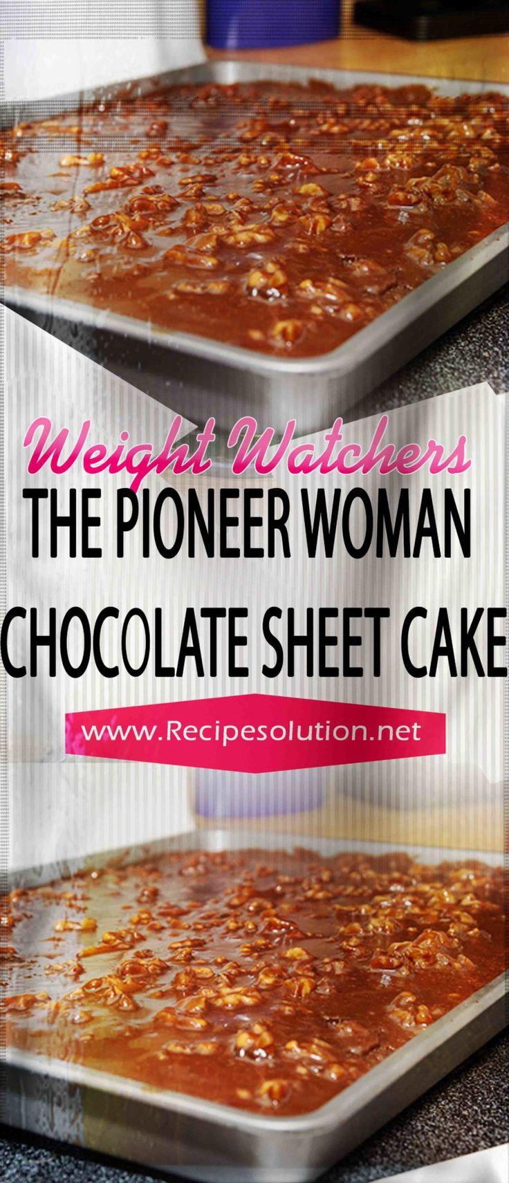 The Pioneer Woman Schokoladenblechkuchen – Seite 2 – Die besten mageren Rezepte   – .weight watchers recipes with points
