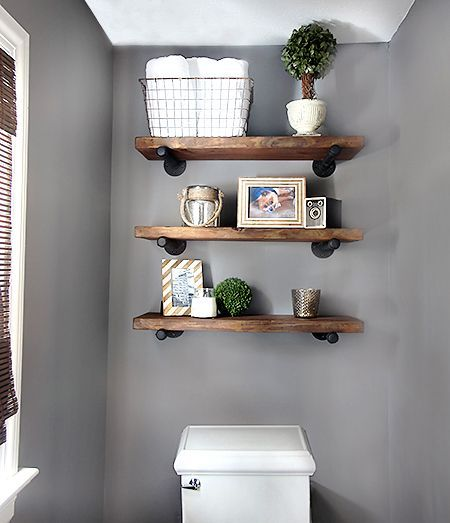 15 DIY Space Saving Bathroom Shelving Ideas Part 47