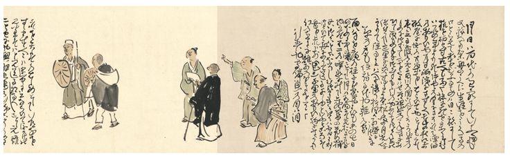 与謝蕪村『奥の細道画巻』_熊野の旅の詳細と芭蕉への憧れ