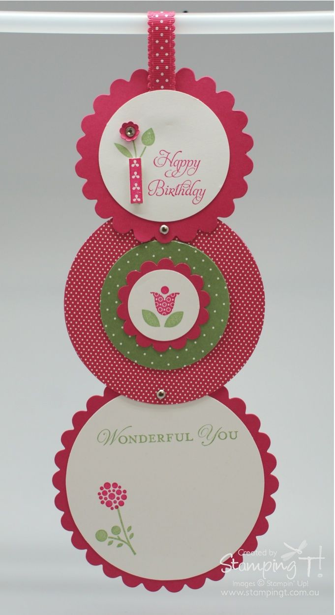 Stampin Up! Birthday by Tanya B at Stamping T! - Circle Telescope Card