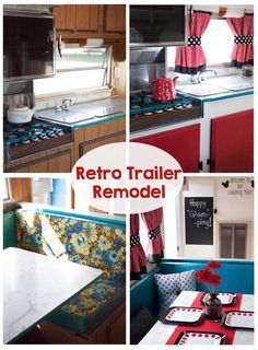 Retro Camping Trailer Remodel As soon as I saw this trailer, I knew it needed to become a Glamper!  See how we took it from camper to glamper.