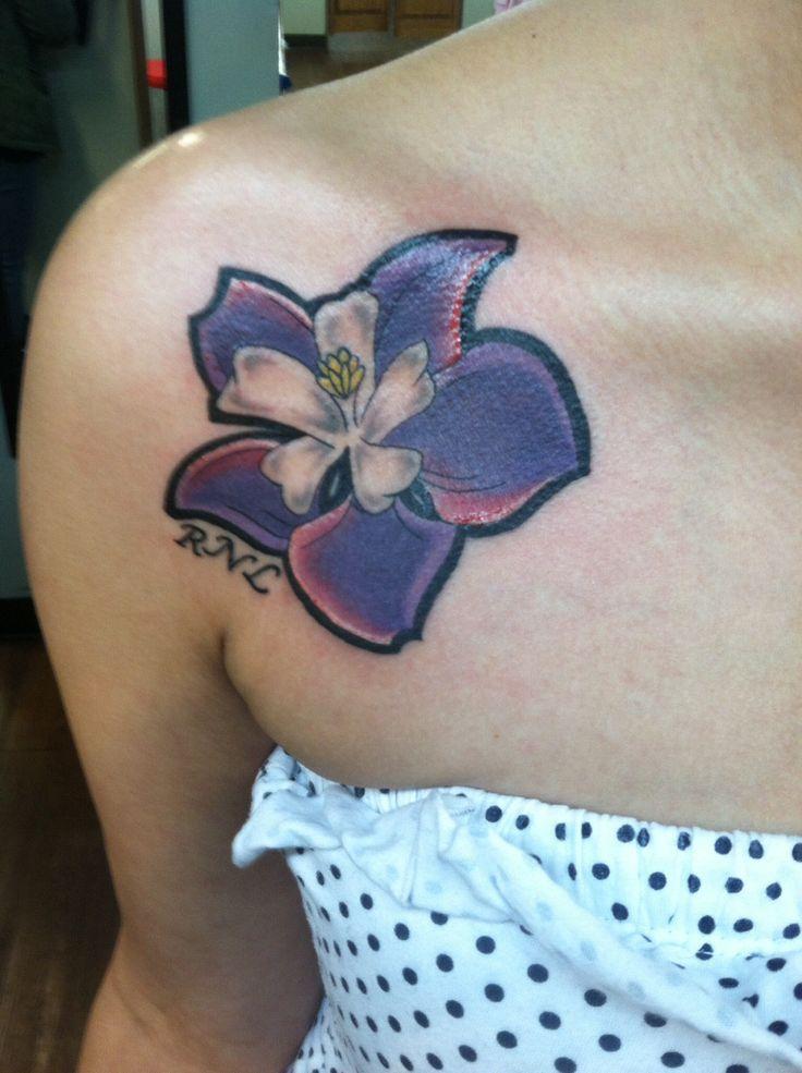 Columbine flower tattoo for friend that passed away #RNL