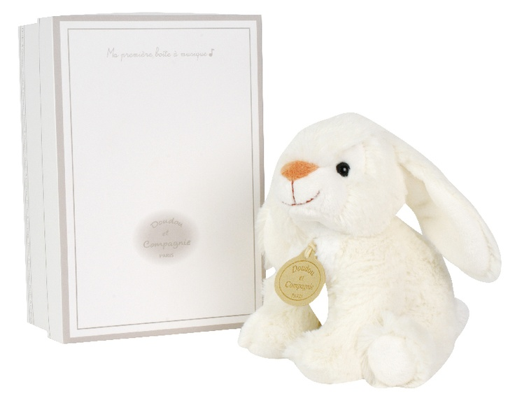 11 best easter gift ideas from little whispers images on pinterest doudou et compagnie small soft white musical rabbit he is so soft and cuddly easter giftbaby negle Images