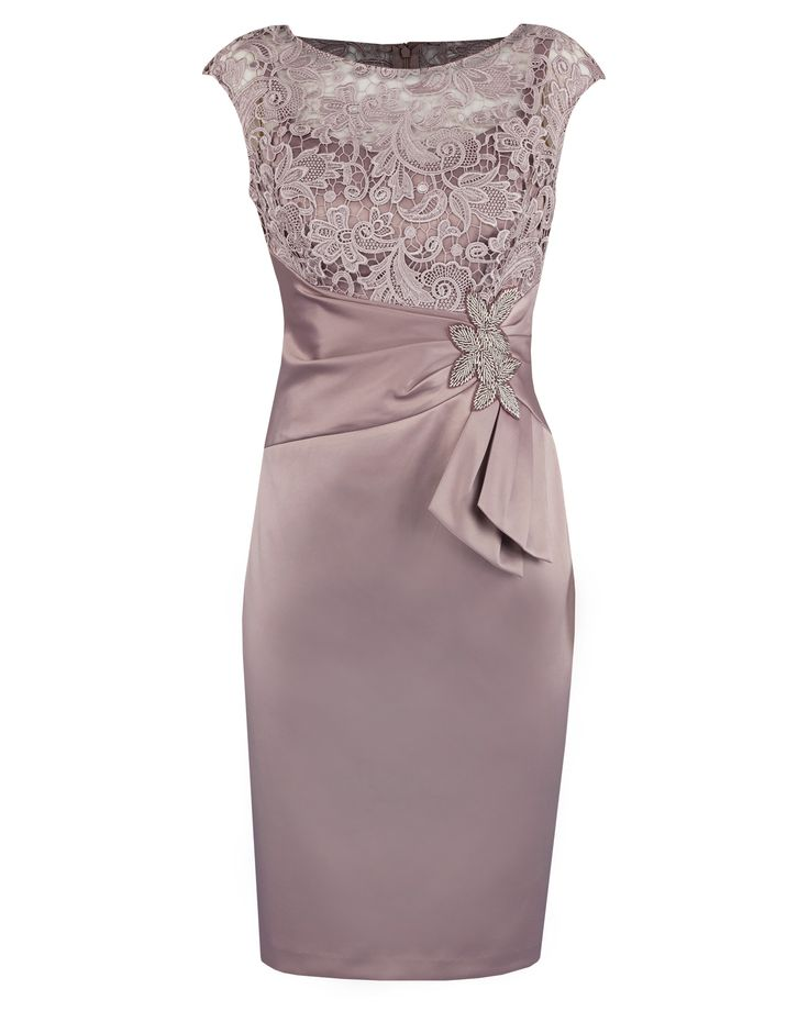 Mother of the Bride : Blush Guipure Lace & Satin Dress