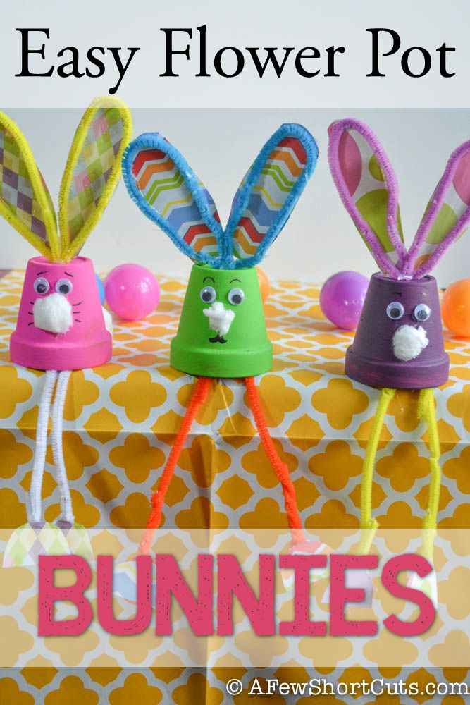 This easy to make craft is great for the kids. Check out these Easy Flower Pot Bunnies