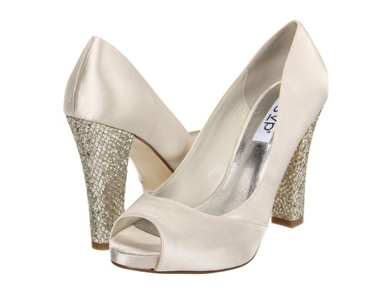 rsvp Shelley, $62.99 from Zappos    The first snowfall is lovely, but not nearly as lovely as these heels with a touch of shimmer to them.-- Hrm! possibilities for New Years Eve!