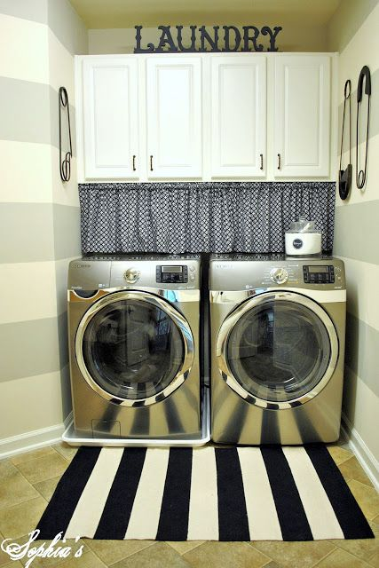 This is how my washer and dryer are set up maybe I can give the cabinets a face lift! Next project!!