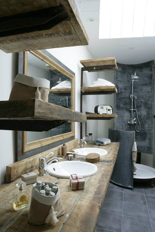 20 Extra Rustic Bathroom Designs 3