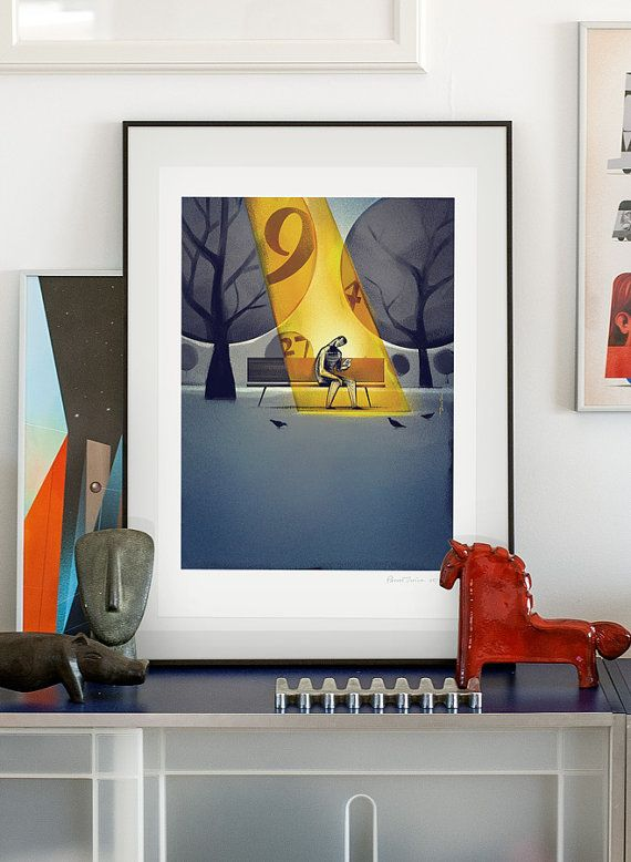 Goldfinger. Illustration art giclée print signed by by PawelJonca