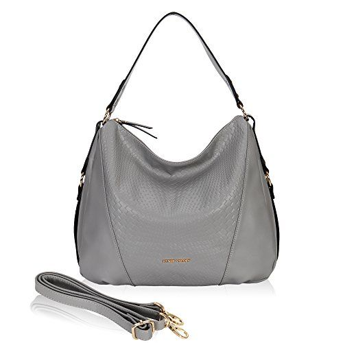 Hynes Victory Woven Pattern Hobo Bag Stylish Hobo Crossbody Bag for Lady  Woman Purse Grey     Details can be found by clicking on the image. 3db4514d94