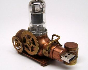 Steampunk unidad flash usb 16GB. por slotzkin en Etsy