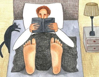 """Check out new work on my @Behance portfolio: """"the teacher reads a book at bedtime"""" http://be.net/gallery/34938271/the-teacher-reads-a-book-at-bedtime"""