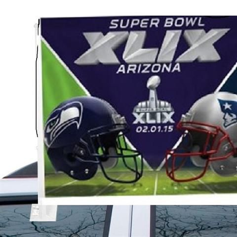 NFL Super Bowl XLIX Dueling Car Flags