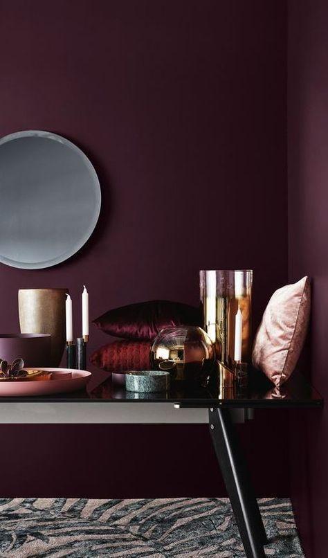 Therapeuticindulgence Deco Violet Plum Walls Bedroom Burgundy Painted