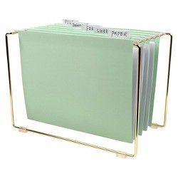 Nate Berkus™ Tabletop File with 5 pc Hanging Folders : Target