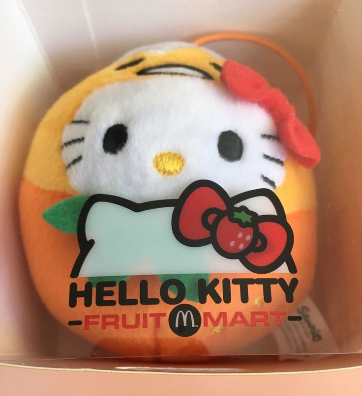Hello Kitty x McDonald's Fruit Mart hanging plush Orange x Gudetama NEW in box #Sanrio