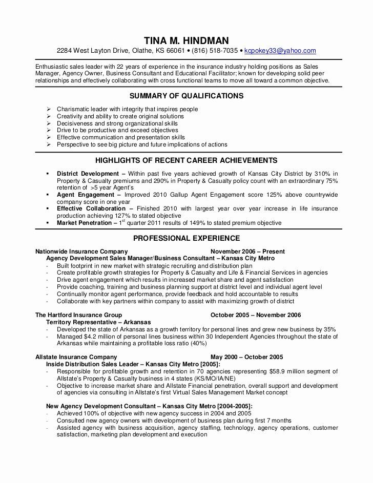 Insurance Manager Job Resume Examples Resume Examples Manager