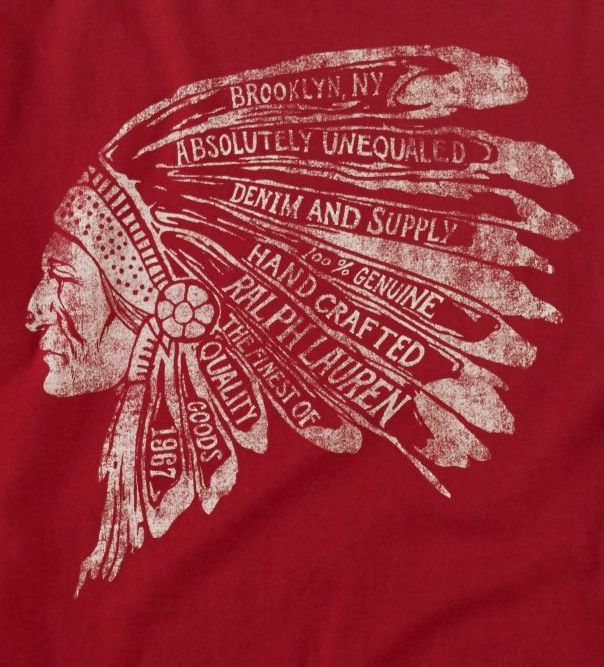 "Ralph Lauren ""newsjacks"" culture and Native Amercians in this logo."