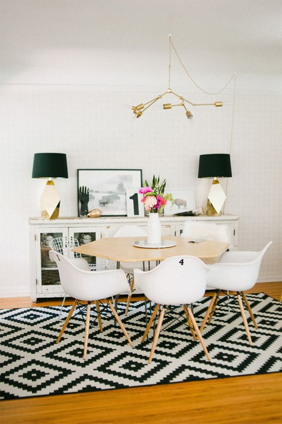 Hello Lidy House Tour White Dining RoomsModern ChairsRug
