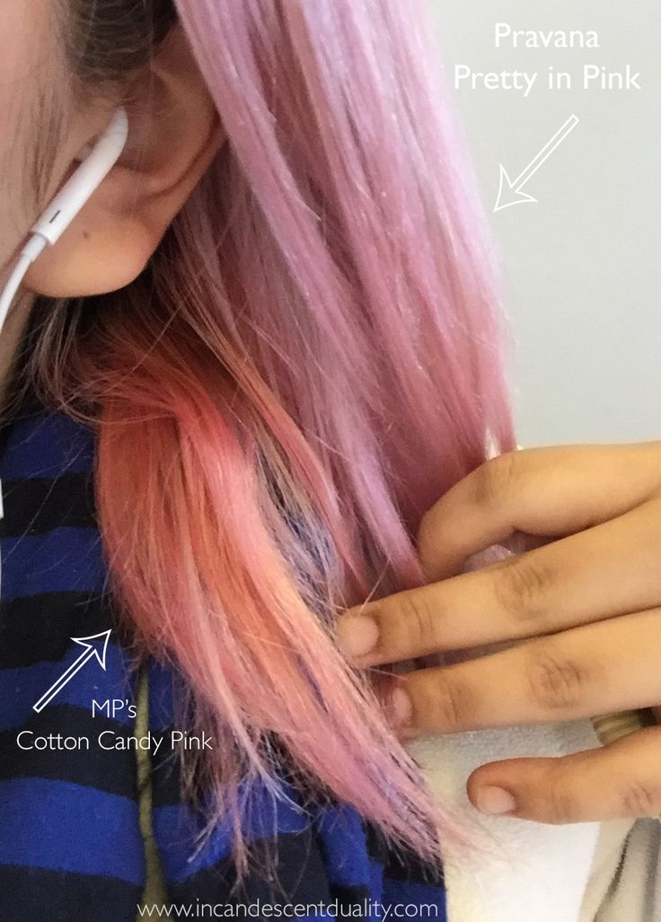 It may or may not be the blonde underneath but MP's Cotton Candy Pink is much more warm toned than the Pravana's cool toned pink.