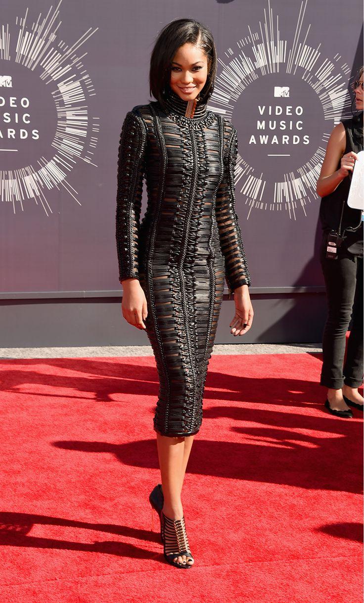 Chanel Iman looks FLAWLESS in Balmain.