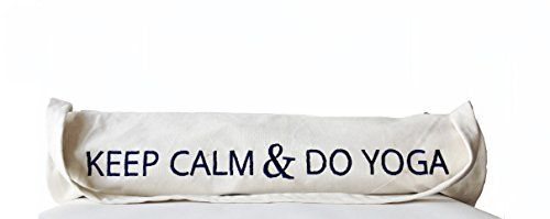 Custom Monogram Cotton Canvas Yoga Mat Bag - Handcrafted and Hand Embroidered Yoga Tote Bag with Keep Calm and Do Yoga Message - Gift (Ivory) Amore Beaute http://www.amazon.com/dp/B00S3GO4HI/ref=cm_sw_r_pi_dp_.6D1vb087Z46J