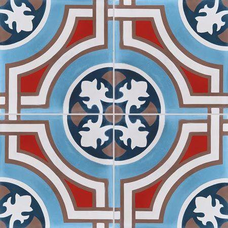 cement tiles - 4x patterns - cement tiles TEDDY 15.30.07.11.28 - Couleurs & Matières