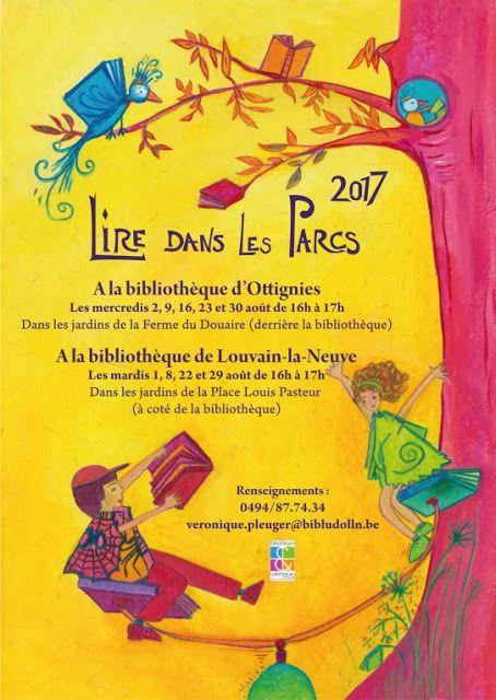 Lire dans les parcs avec la Bibliothèque de Louvain-la-Neuve