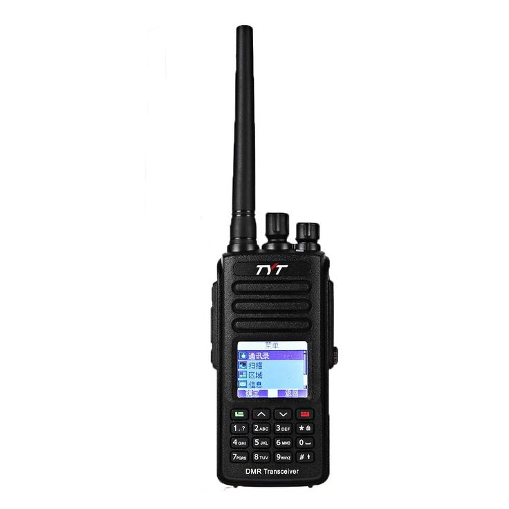 GBTIGER TYT MD-390 DMR Digital Radio, IP67 Waterproof, UHF 400-480MHz, Two-way Radio Transceiver 1000 Channels Walkie Talkie, With 2 Antenna, Black