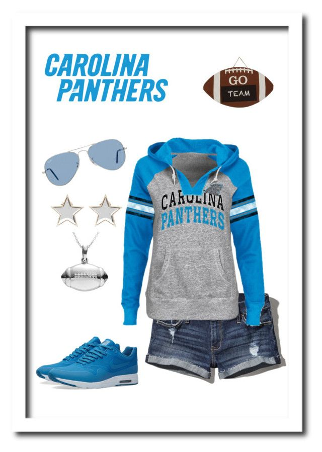 """""""Carolina Panthers Game Day Casual Outfit"""" by mystyleaddiction on Polyvore featuring Abercrombie & Fitch, NIKE, Ray-Ban, Givenchy and Journee Collection"""