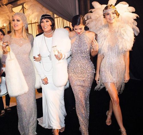 "keeping-up-with-the-jenners: ""Kris's 60th Great Gatsby themed birthday party """