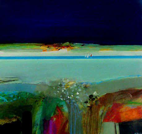 "Archibald Dunbar McIntosh RGI RSW ""Autumn Coastline"" Acrylic"