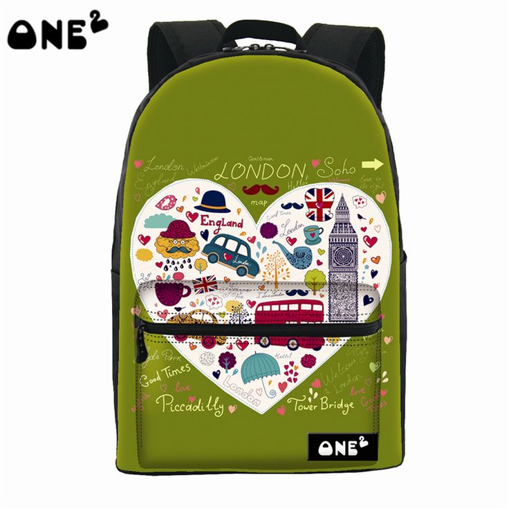 ONE2 design architectural pattern creative backpack beautiful china wholesale backpack teenage fashion school backpack