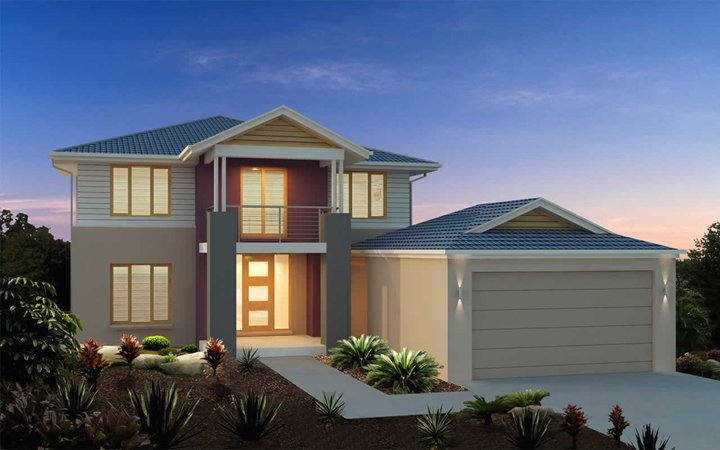 Metricon home designs the newhaven plantation facade for Home designs victoria