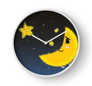 Fun nursery clock (for the parents to use, obviously)