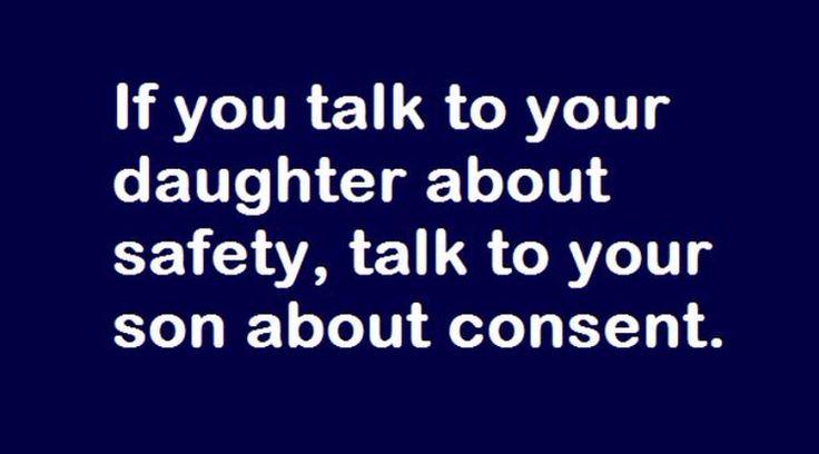 If talk to your daughter about safety...