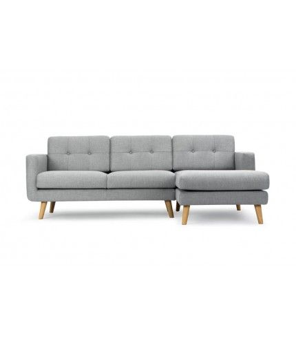 Conrad, 3-seater sofa w/ chaiselong right, Vendy cool grey