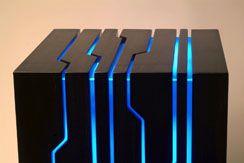 Tron Computer case. Chiaroscuro by Nick Falzone