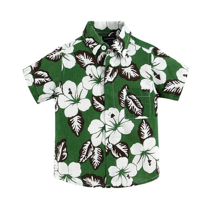 Хлопок белье смешанные цветочные рубашка гавайская рубашка гавайская рубашка для мальчика T1532