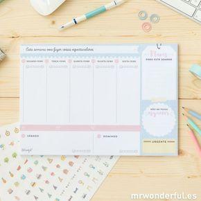 ... | Agenda semanal imprimible, Planificacion semanal y Horario semanal